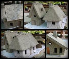 Hypertufa Fairy Houses