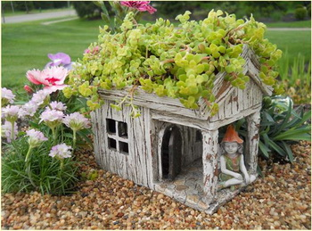 how to make a fairy house The Fairy Garden